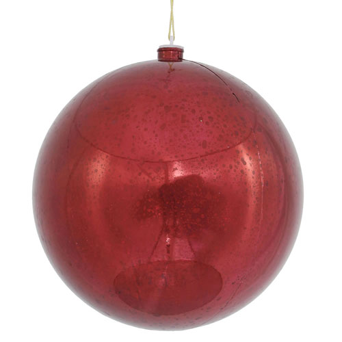 Burgundy Shiny Mercury Ball Ornament