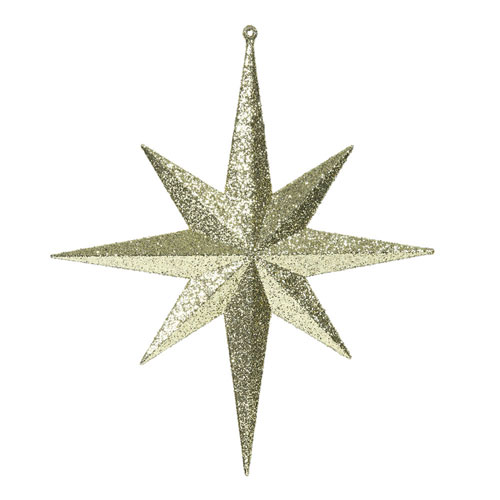Gold Glitter Bethlehem Star, Set of Two