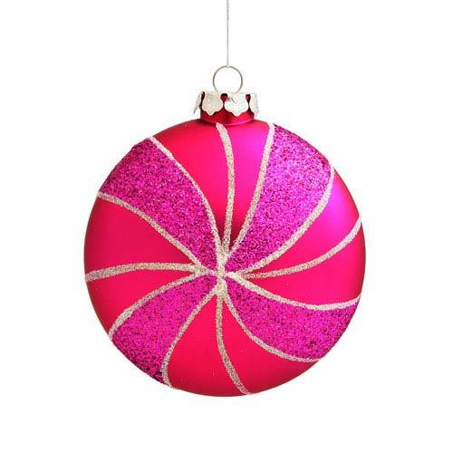 Vickerman Pink Assorted Shape Swirl Ornaments 95mm 3/Box