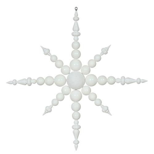 White Irid Snowflake Ornament