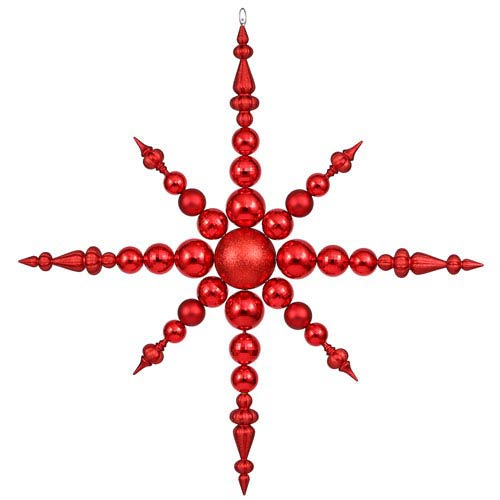 Red Solid Color Snowflake Ornament 43-inch