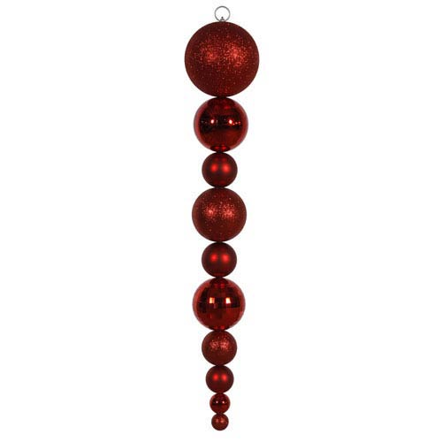 Red Assorted Calabash Ornament 44-inch