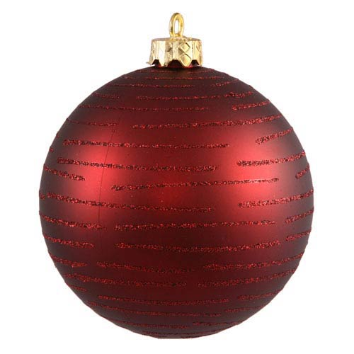 Vickerman Burgundy Ball Ornament 120mm