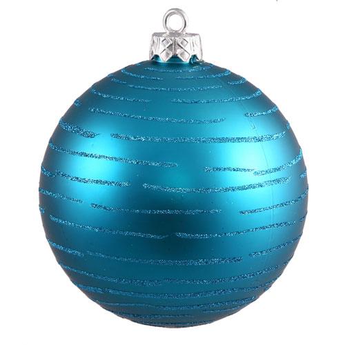 Vickerman Turquoise Ball Ornament 120mm