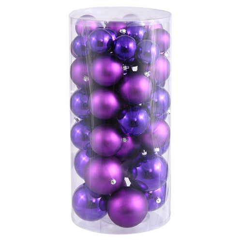 Purple Balls Shiny and Matte, Fifty Piece Set
