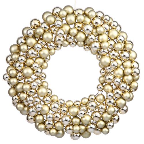 Gold 36-Inch Ball Wreath