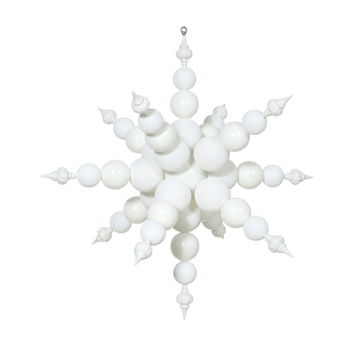 White Radical Snowflake Ornament