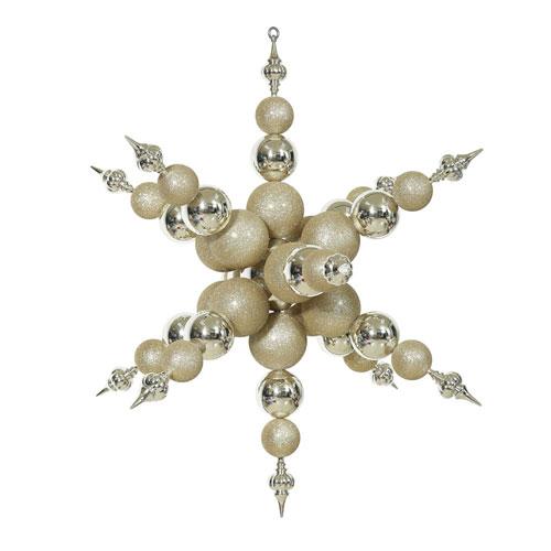 Champagne Shiny Radical Snowflake Ornament