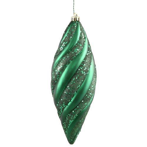 Emerald Green Spiral Drop Ornament 200mm