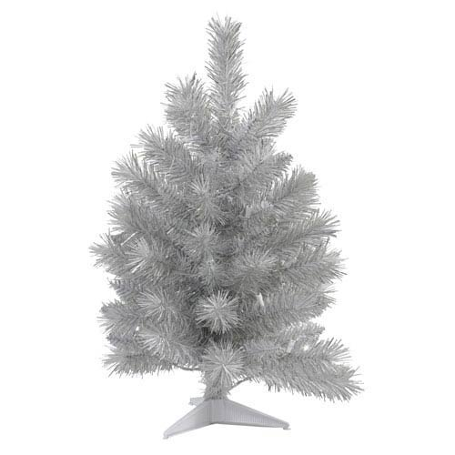 Silver White 3 Foot Pine Tree