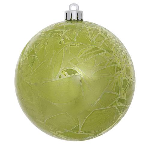Lime Crackle Ball Ornament, Set of Twelve