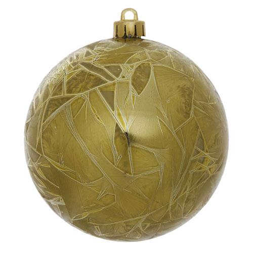 Olive Crackle Ball Ornament, Set of Twelve