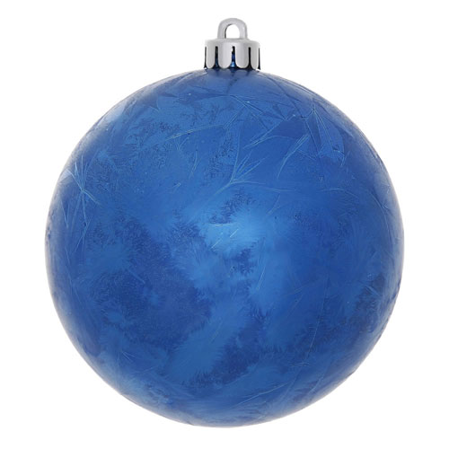 Vickerman Blue Crackle Ball Ornament, Set of Four