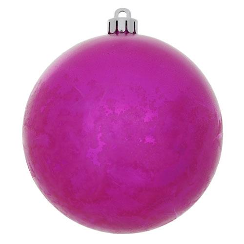 Vickerman Magenta Crackle Ball Ornament, Set of Four