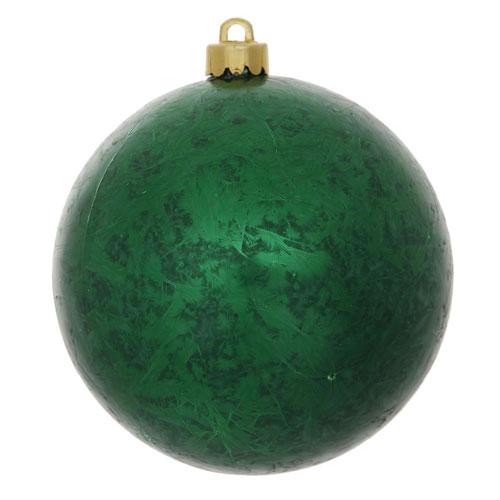 Emerald Crackle Ball Ornament, Set of Four