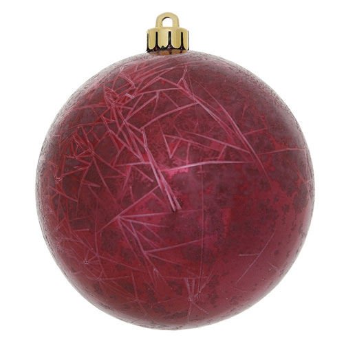 Vickerman Burgundy Crackle Ball Ornament