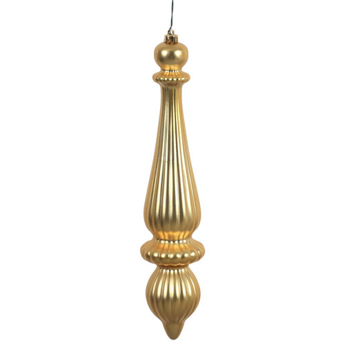 Gold Matte Finial Drop, Set of Two