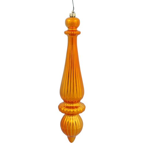 Copper Shiny Finial Drop, Set of Two