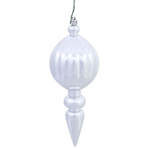 Silver Matte Finial UV Drilled, Set of Six