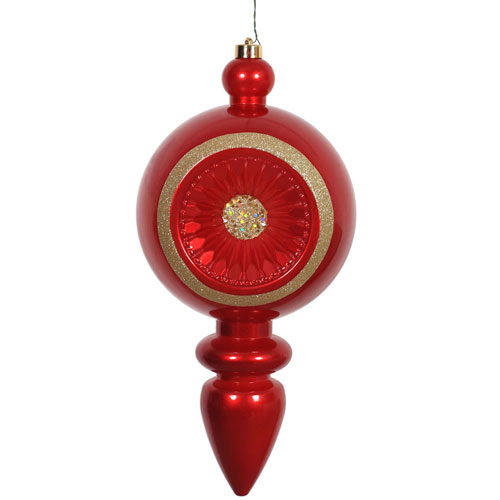 Red Candy Finial UV Drilled