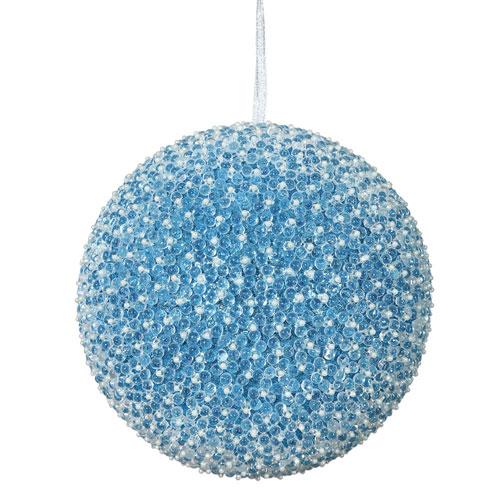 Turquoise Acrylic Beaded Ball Ornament