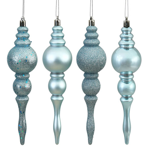 Baby Blue Assorted Finial, Set of Eight