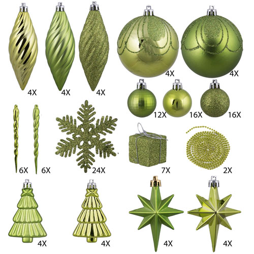 Lime Ornament Set, One Hundred and Twenty-Five Piece Set