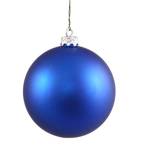Vickerman Blue 4 Finish Ball Ornament 60mm