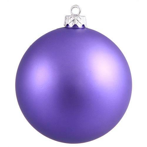 Vickerman Purple 4 Finish Ball Ornament 60mm