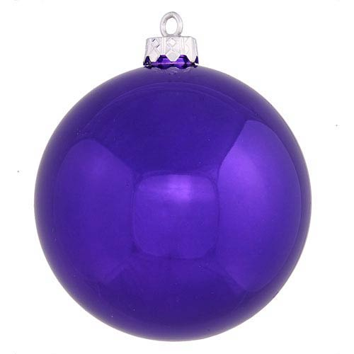 Vickerman Purple 4 Finish Ball Ornament 60mm