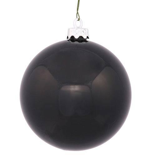 Black 2.5-Inch UV Shiny Ball Ornament, Set of 24