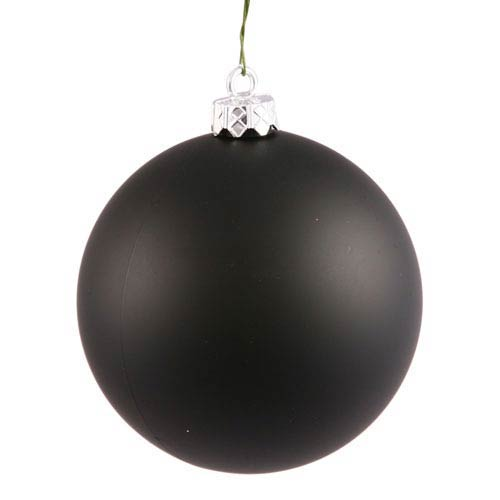 Black 4 Finish Ball Ornament 60mm