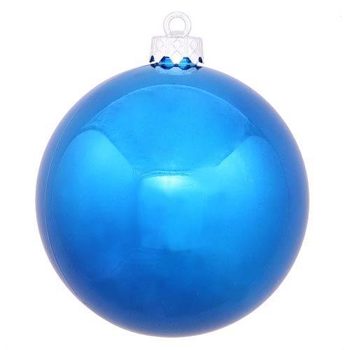 Blue 4 Finish Ball Ornament 70mm
