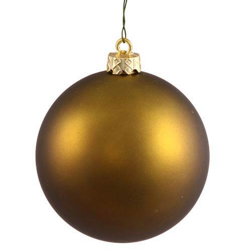 Vickerman Dark Olive 4 Finish Ball Ornament 70mm