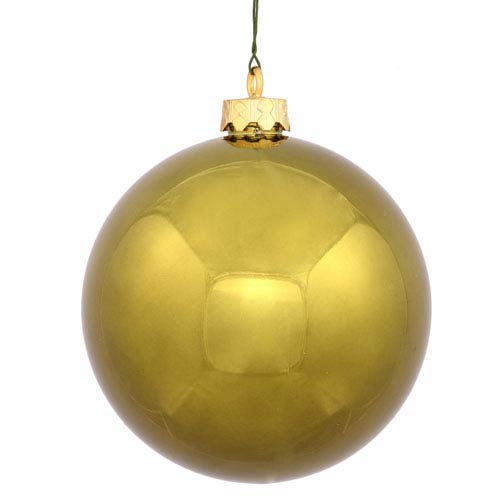 Dark Olive 4 Finish Ball Ornament 70mm
