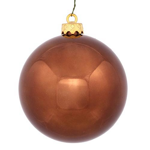 Vickerman Chocolate 4 Finish Ball Ornament 70mm