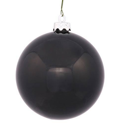 Vickerman Black 4 Finish Ball Ornament 70mm