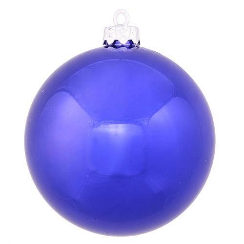 Cobalt Blue 4 Finish Ball Ornament 70mm