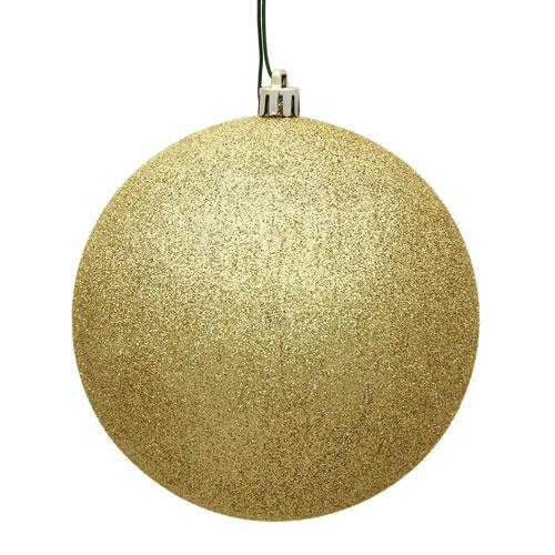 Vickerman Gold Glitter Ball Ornament, Set of Twelve