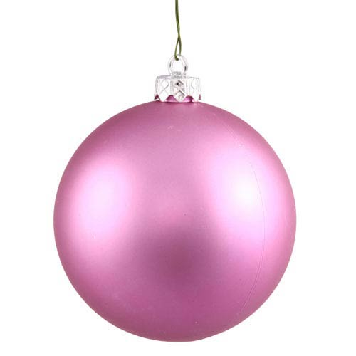 Orchid Pink 4 Finish Ball Ornament 80mm