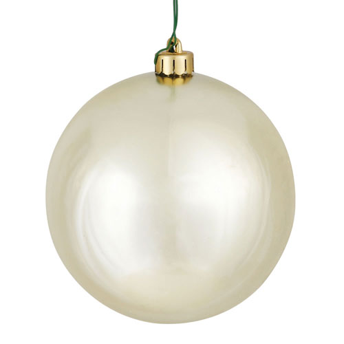 Champagne Shiny Ball Ornament, Set of Twelve