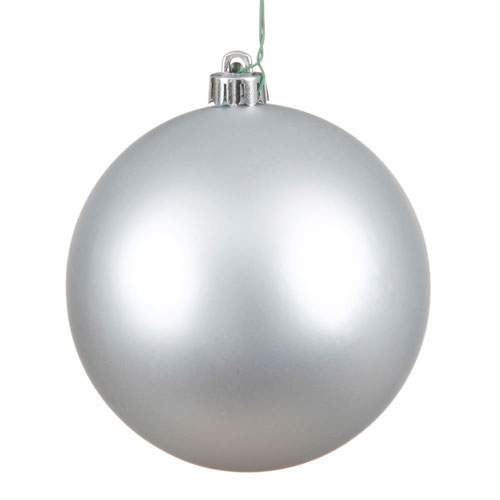 Vickerman Silver Matte Ball Ornament, Set of Six