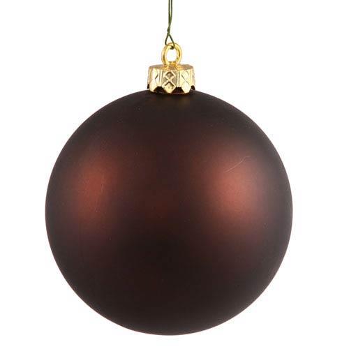 Vickerman Chocolate 4 Finish Ball Ornament 100mm