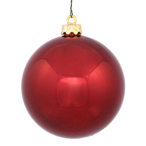 Vickerman Burgundy 4 Finish Ball Ornament 120mm