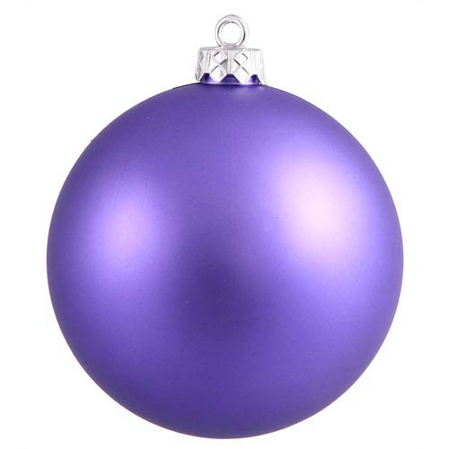 Vickerman Purple 4 Finish Ball Ornament 120mm