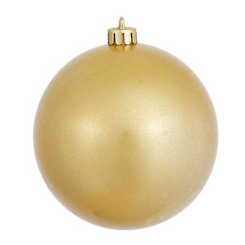 Gold 5-Inch UV Candy Ball Ornament, Set of Four