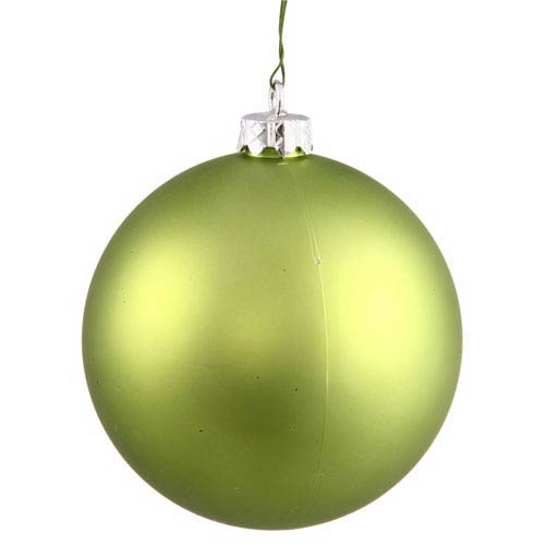 Vickerman Lime 4 Finish Ball Ornament 120mm