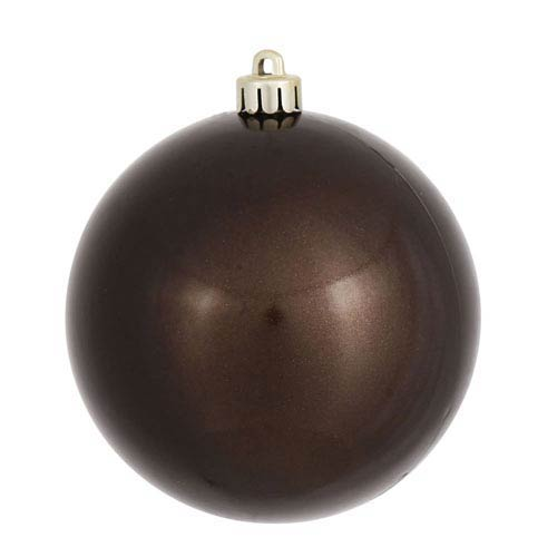 Chocolate 5-Inch UV Candy Ball Ornament, Set of Four