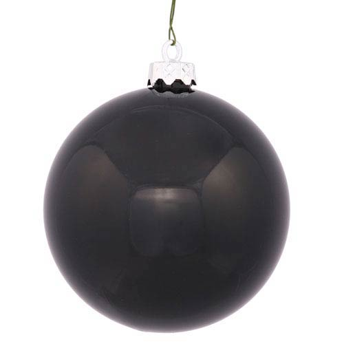 Vickerman Black 4 Finish Ball Ornament 120mm