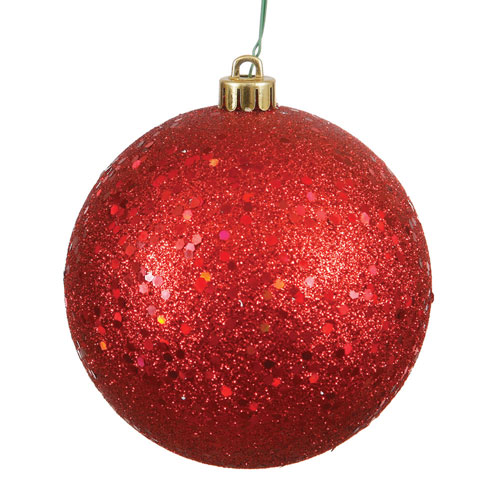 Vickerman Red Sequin Ball Ornament, Set of Four